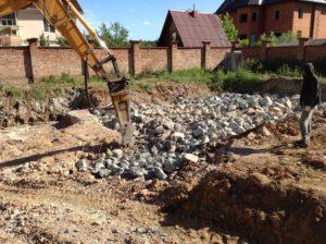 Демонтаж фундамента в СПб (1)
