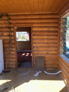 Демонтаж деревянного дома в Зеленогорске 2