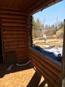 Демонтаж бревенчатого дома в Зеленогорске 3