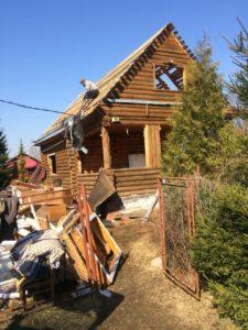 Демонтаж бревенчатого дома в Зеленогорске 4
