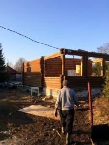 Демонтаж бревенчатого дома в Зеленогорске 8