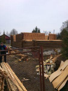 Демонтаж бревенчатого дома в Зеленогорске 9