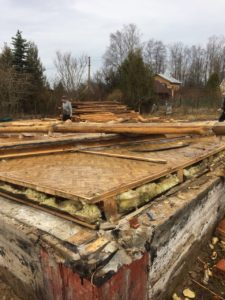 Демонтаж бревенчатого дома в Зеленогорске 10