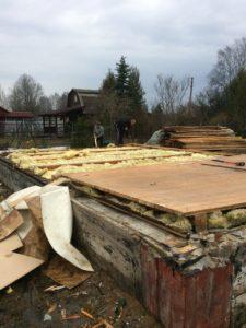 Демонтаж бревенчатого дома в Зеленогорске 11