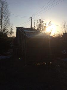 Демонтаж бревенчатого дома в Зеленогорске 12