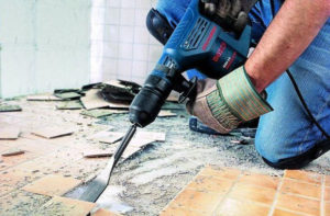 Демонтаж плитки в СПб