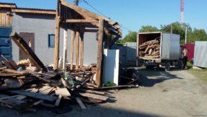Снос дома с вывозом мусора